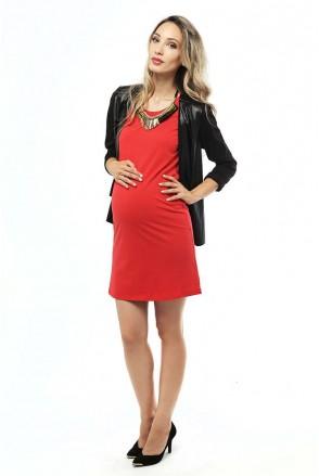 Платье миди-Красное для беременных