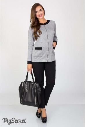 Штани Elegance чорні для вагітних з бандажним поясом