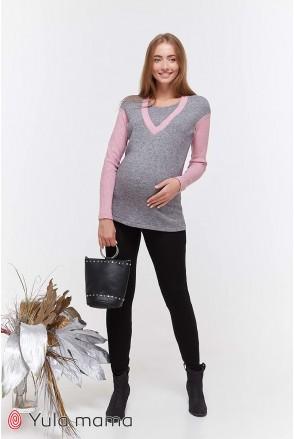 Теплые брюки-лосины Kristi warm черный для беременных