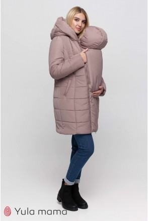 Зимнее слинго-пальто 3 в 1 Abigail sling OW-40.053 капучино для беременных