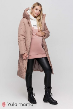 Зимнее теплое пальто Helsinki бежевый для беременных