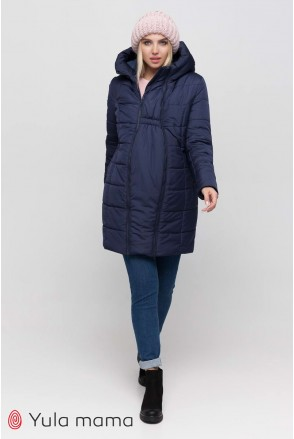 Зимнее слинго-пальто 3 в 1 Abigail sling OW-40.051 темно-синее для беременных