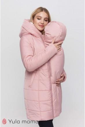 Зимнее слинго-пальто 3 в 1 Abigail sling OW-40.052 пудра для беременных