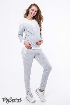 Костюм Irhen серый меланж для беременных и кормящих