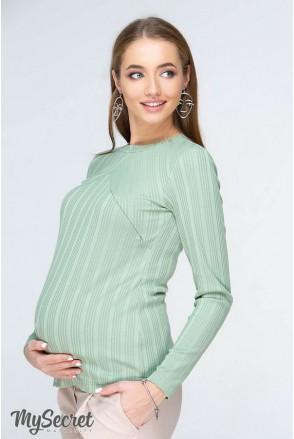 Лонгслів Stefania світло-зелений для вагітних і годування