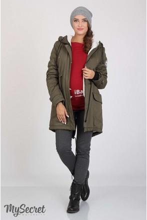Куртка-парка Inira хакі для вагітних