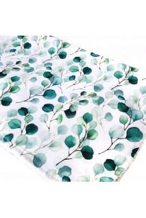 Пеленка непромокаемая сатин Зеленые веточки
