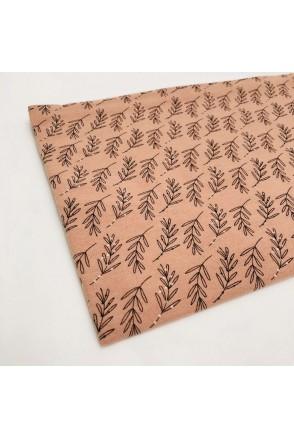 Фланелевая пеленка листочки на розовом