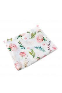 Пеленка муслиновая Розовые розы