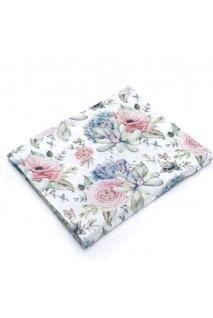 Пеленка муслиновая Розы суккуленты