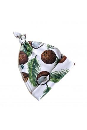 Шапочка узелок с начесом Кокосы