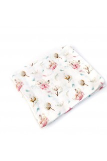 Пеленка муслиновая Хлопок с цветами