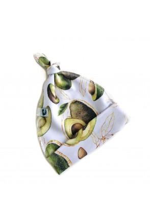 Шапочка узелок с начесом Авокадо