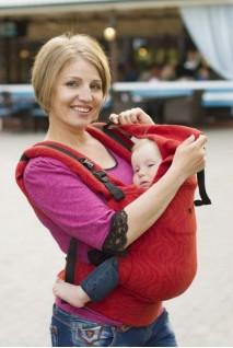 Эрго-рюкзак из шарфовой ткани TERRACOTTA
