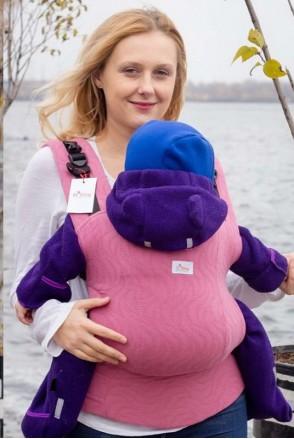 Эрго-рюкзак из шарфовой ткани РОЗОВЫЙ