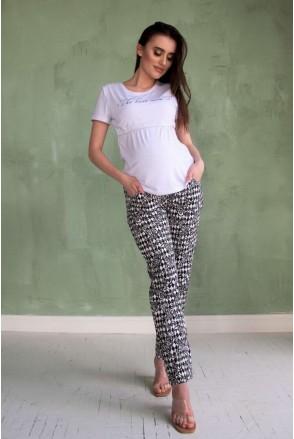 Штаны Черно-белые 1823 1358 для беременных