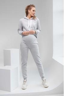 Спортивные штаны утепленные 2106 1433 серый для беременных