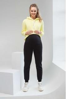 Спортивные штаны утепленные 2106 1435 черный для беременных