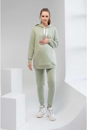Спортивні штани 2106 1427 фісташковий для вагітних