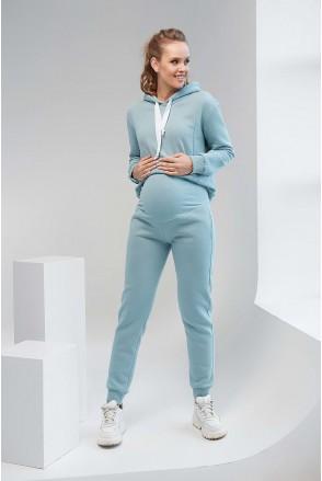 Спортивні штани 2106 1453 блакитно-зелений для вагітних