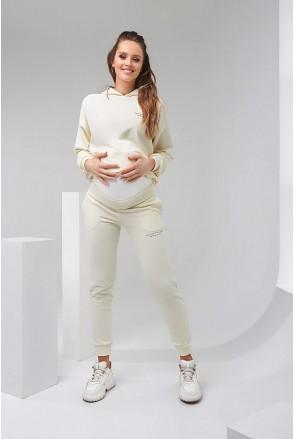 Штани 2136 1502 айворі для вагітних