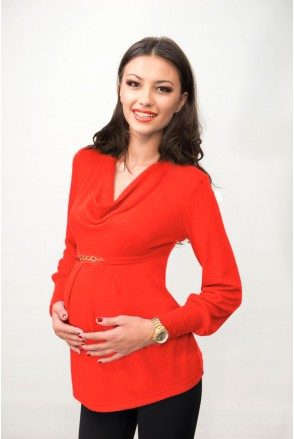 Кофта коралловая 1375 0632 для беременных