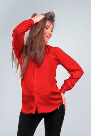 Блуза красная 1558 0000 для беременных