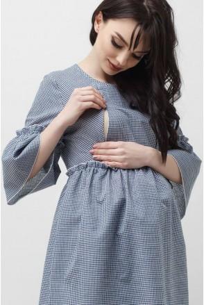 Блуза сіра 1829 0000 для вагітних і годування