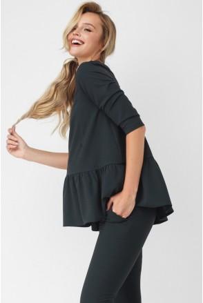Блуза темно-зелена 1875 1057 для вагітних і годування