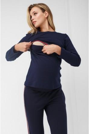 Кофта синяя 1882 0353 для беременных и кормления