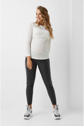 Кофта белого цвета 1983 1214 для беременных и кормления
