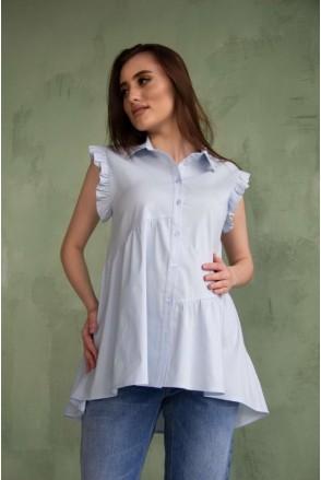 Рубашка голубая 2043 0000 для беременных