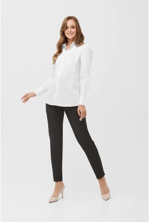 Рубашка 2077 0173 Белый для беременных и кормления