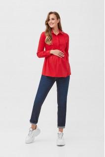 Рубашка 2078 0621 Красный для беременных и кормления