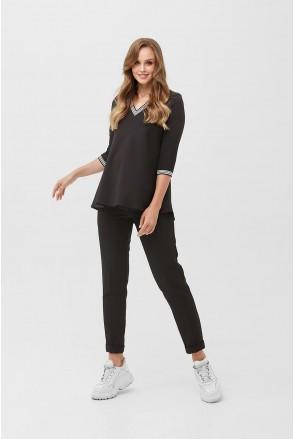 Блуза 2084 0006 Черный для беременных