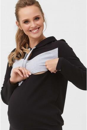 Кофта 2005 1405 Черный для беременных и кормления