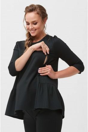 Блуза 2091 1412 Темно-зеленый для беременных и кормления
