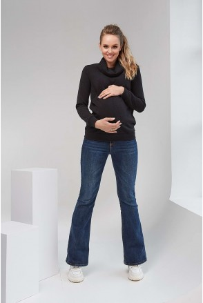 Кофта 2102 1429 черный для беременных и кормления