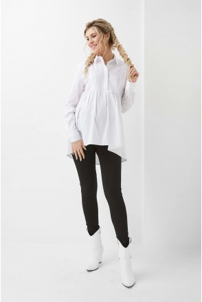 Сорочка арт. 2012 0173 білий для вагітних та годування