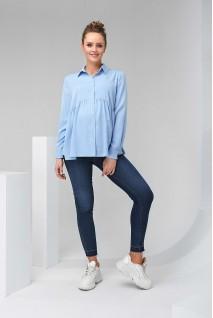 Рубашка 2138 1508 синий для беременных и кормления