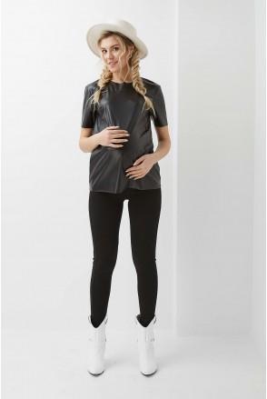 Туника арт. 2023 1309 черный для беременных и кормящих