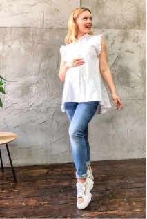 Рубашка 2043 0173 белый для беременных и кормления