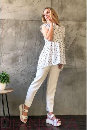 Рубашка 1843 0001 белый для беременных и кормления