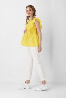 Блуза 1948 1100 желтый для беременных и кормления