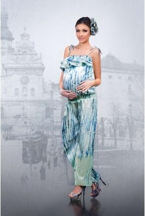 Комбінезон біло-блакитний 1221 0704 для вагітних