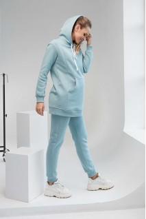 Спортивный костюм 2105(6) 1453 сине-зеленый для беременных и кормления
