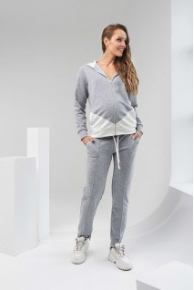 Спортивный костюм 2124(5) 1061 серый для беременных и кормления
