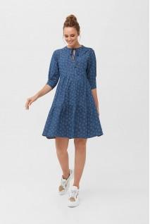 Платье 2097 1415 Синий для беременных и кормления