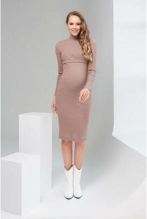 Платье 2109 1434 кофейный для беременных и кормления