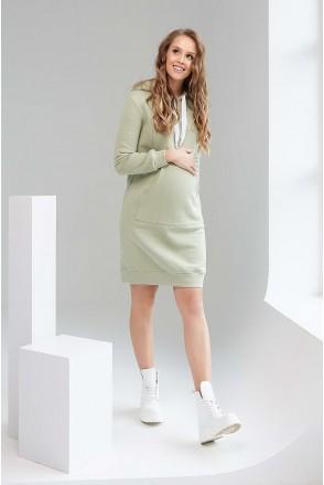 Платье-худи 1996 1452 фисташковый для беременных и кормления